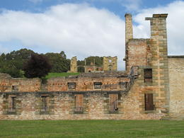 Port Arthur: A section of the penitentiary and the old hospital in the background, David C - December 2010