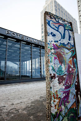 Berlin wall at Potsdammer Platz station - May 2011