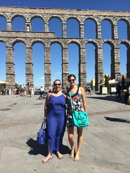 Visiting the aquaduct , Stacie H - September 2015