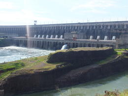 A photo of the dam taken from the bus that takes you all around , Paolo F - May 2014