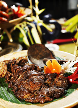 Bebek Betutu - Famous Balinese Duck Slow-Roasted in Banana Leaves with 12 Spices - November 2013