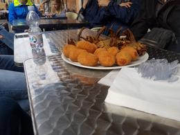 Suppli and fried artichokes in the Jewish Ghetto , LAURA K - March 2017