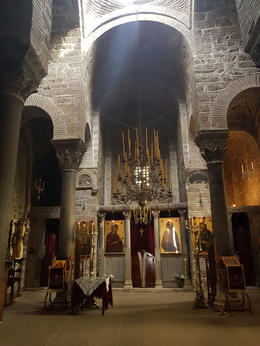 At the Hosios Loukas monastery , Ramune M - February 2018