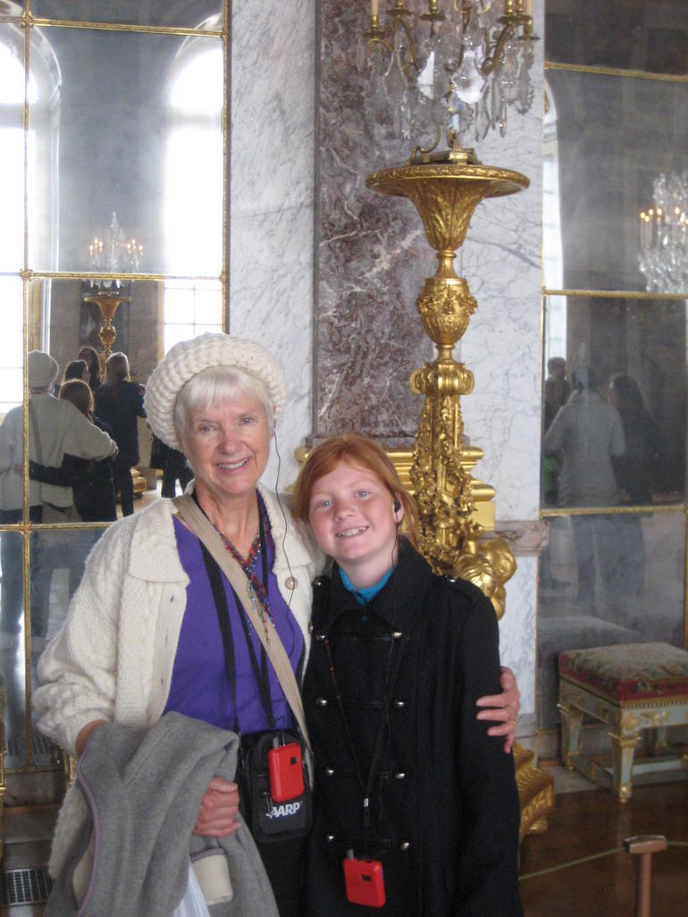 Cambell and Nana in the Hall of Mirrors - Versailles