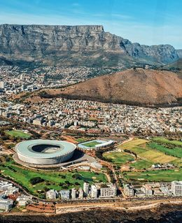 Flying over Cape Town Stadium , purizaca - April 2016