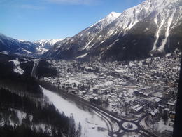 View of Chamonix from the gondola. , Jade S - March 2012