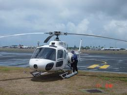 The helicopter at the airport., Patricia J - November 2007