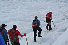 Our party being led up the glacier by our wonderful guide, San. , Stephen L - November 2013