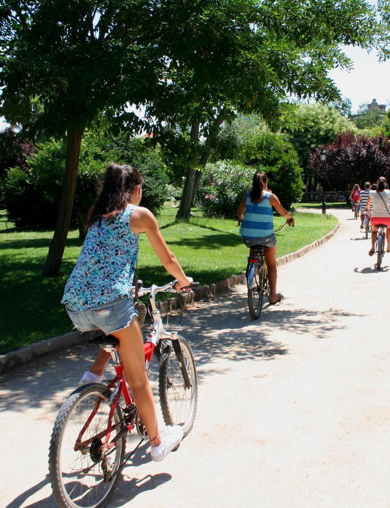 riding through the Park south from the Arc De Triumpe - Barcelona