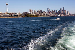 Day trip to Seattle from Victoria: Seattle Waterfront Skyline - May 2011