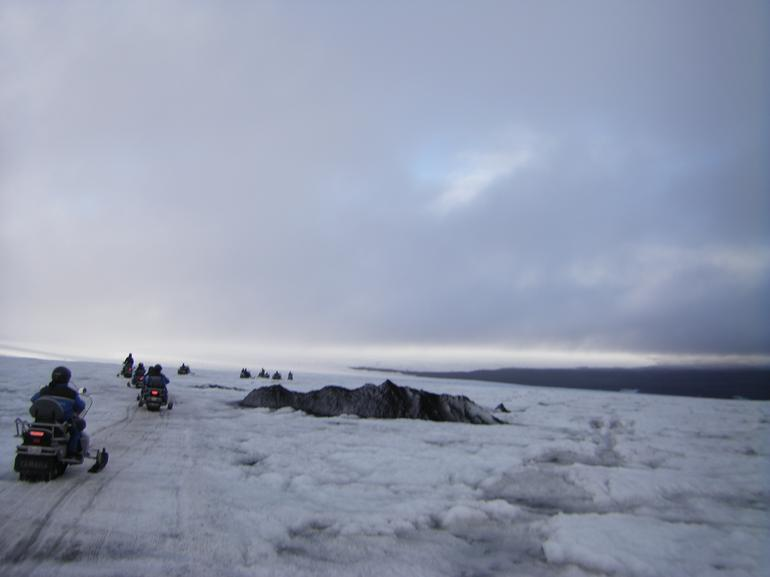 Whilst we were snowmobiling the Golden Route - Reykjavik
