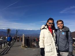 The Japanese Alps behind us! , Rayhan Tee - December 2016
