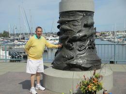 My husband Richard at the Fisherman's Terminal , Richard T - September 2017