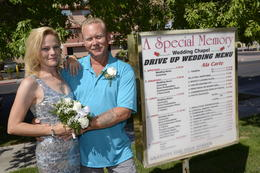 Drive Thru Wedding was the Best! Thanks for the professional service! Sincerely The King's , Scottyucca - July 2012