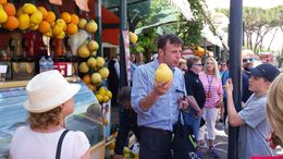 We got to learn about local food and sample yummy white lemons they were huge! , Luke F - August 2016