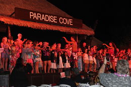 The performers getting us all involved with the Luau, Erik - October 2015