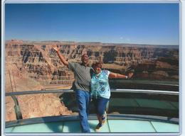 My hubby and I making a Kodak moment, posing on the Sky Walk , neet - October 2015