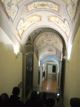 Entering the Vasari Corridor from the Uffizi Museum , Susan L - January 2016