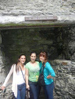 With my cousins after kissing the stone , Esther A - July 2013