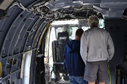 Inside one of the helicopters , Cathy T - April 2013