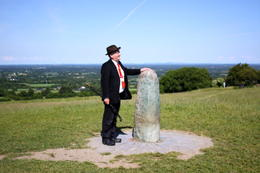 Harry, our tour guide, giving us the fascinating history of the Hill of Tara , Meg - August 2014