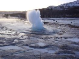 Geysir on the tour., Timetable Tim - January 2009