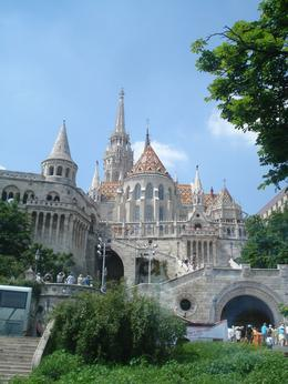 This was a view of Fisherman's bastion and Mathias church from the road side. The place is really beautiful., David F - July 2010