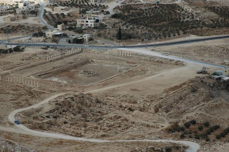 Lower Herodium from man-made mountain - Jerusalem