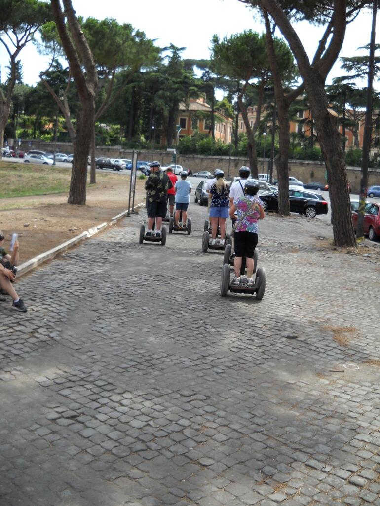 Our Segway tour begins - Rome