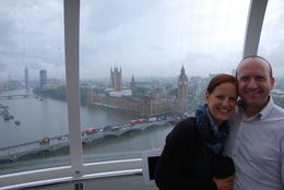 View across the Thames of Big Ben/Parliament from atop the Eye. , Jeff & Kathy - July 2016