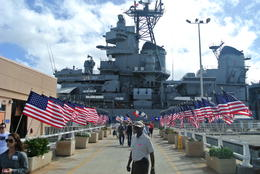 Entry way to USS Missouri , Jessica W - December 2012