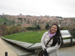 Impromptu stop outside the city walls of Avila , JANNINE R - February 2017