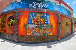 Mural outside Mayan gift shop. , fefecheeks - July 2017