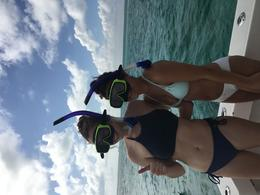 snorkeling my daughter and her friend , Mary K - January 2018