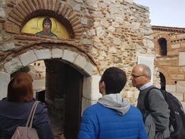 Entering Hosios Loukas monastery , Ramune M - February 2018