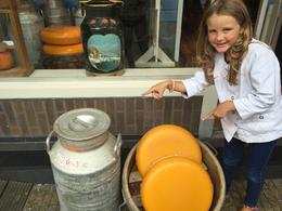 My daughter enjoying the cheese factory and its delicious products. , Francesca S - September 2016