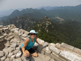 The view from my first guard tower at Jiankou...the hike through the woods and climb to the top was worth it! , Michelle W - July 2016