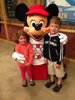 Our kids getting to meet Mickey, they were very excited! , kphalstead - June 2013