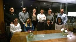 Couples at dinner were from Canada, Brazil, Columbia and United States , Gerald and Mary - October 2014