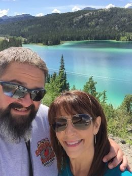 Taking a picture in front of Emerald Lake , Jason S - July 2016