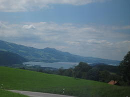 Lake Zurich on the road to Liechtenstein , Reba A - July 2012