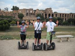 Only a short distance further and we are expert enough that we can stand on the Segway with no hands., Glenn L - August 2009