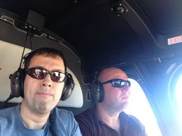 Nir and Avi in the helicopter. Amazing flight tour! , Nir D - March 2015