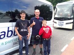 Our boys with Liam, the best tour guide in Scotland! , Jade F - July 2013