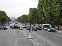 The first sighting we had of The Arc de Triomphe, Paul S - August 2010