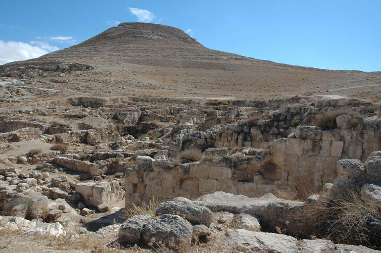 Man-made mountain from Lower Herodium - Jerusalem