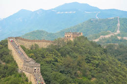 A view of the Mutianyu section of the Great Wall , Jessie - August 2014