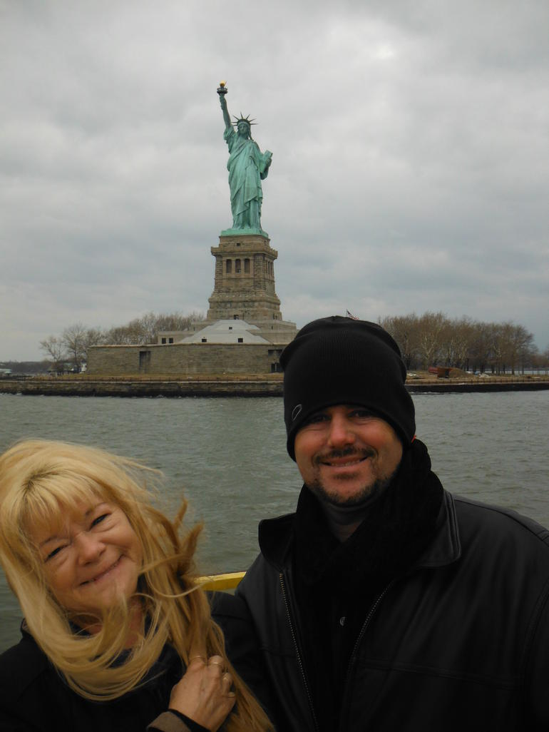 On the water taxi getting near Lady Liberty - Brooklyn