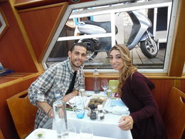 We went to holland for part of our honeymoon and celebrated our one week married on the canal cruise , Gia - November 2015