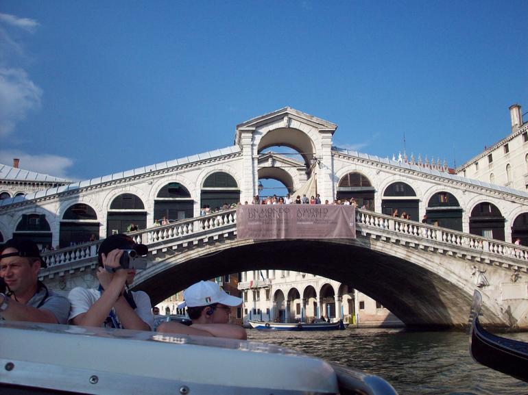 Realto Bridge from boat - Venice